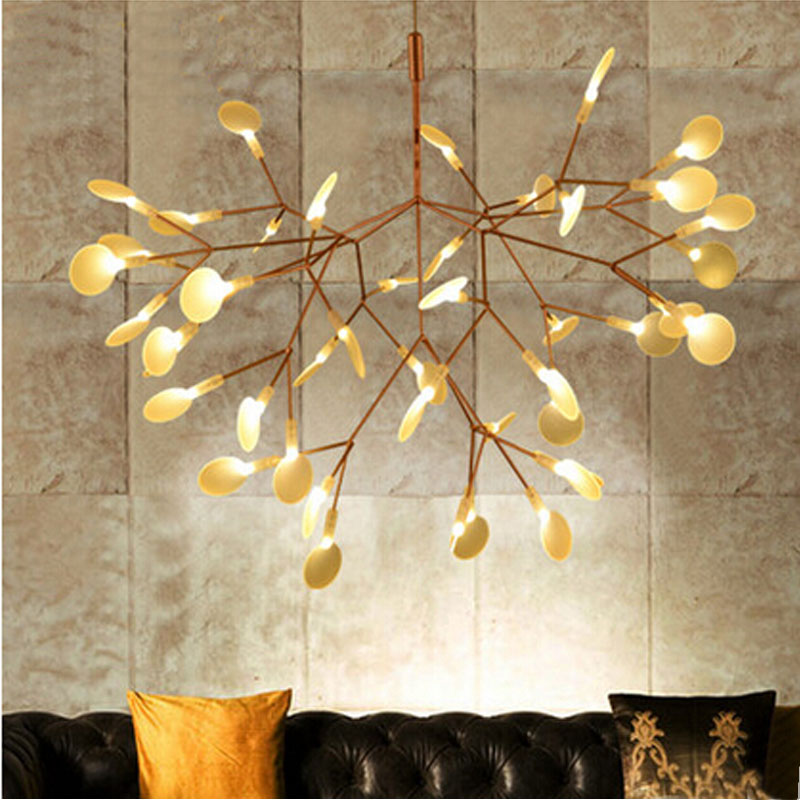 Us 1 0 Small Leaves Tree Branch Chandelier Light Twigs Suspension Lighting Ems Free Shipping In Pendant Lights From On Aliexpress