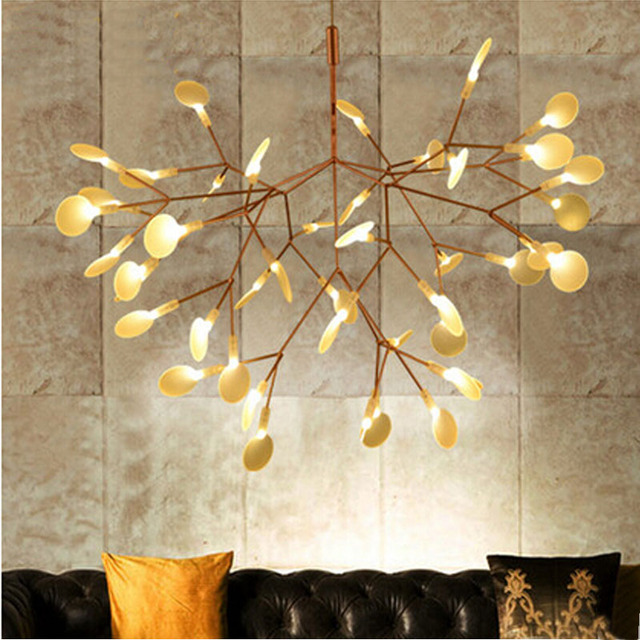 Small leaves tree branch chandelier light twigs suspension lighting small leaves tree branch chandelier light twigs suspension lighting ems free shipping mozeypictures Images