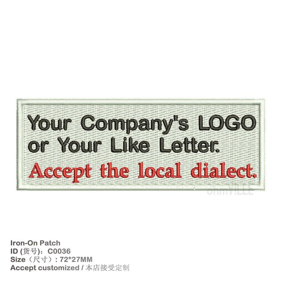 √Personalizado logotipo de la empresa hierro hecho a mano en ...