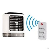 Draagbare Airconditioner Persoonlijke Ruimte Cooler Luchtbevochtiger Vochtig Low Noise Zuivert Air Led Light Adiabatische Kleine Desk Fan Mini-in Luchtzuiveraars van Huishoudelijk Apparatuur op