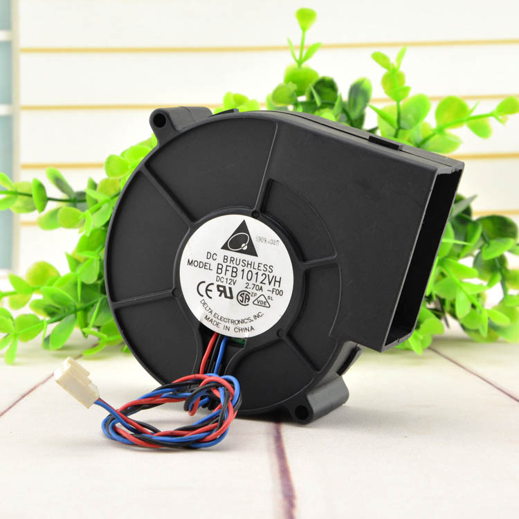 Delta Electronics BFB1012VH Server Blower Fan DC 12V 2.70A 97x97x33mm 3-wire