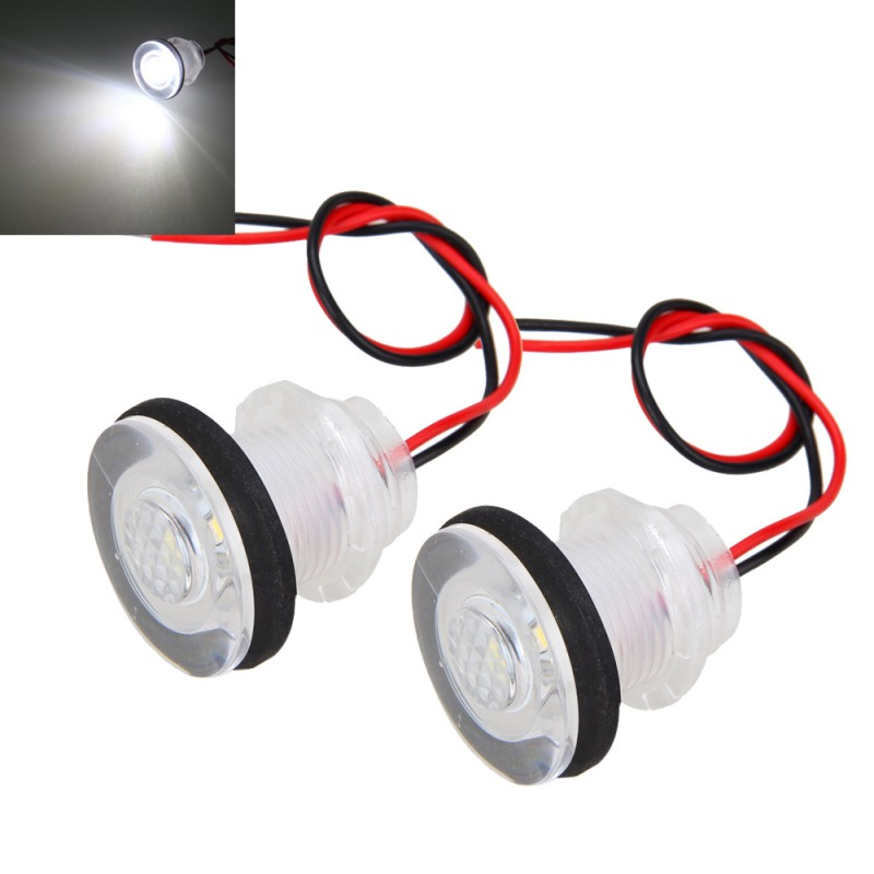 2PCSx Marine Boat Yacht RV LED Courtesy Boat Lamp Stair White Light Waterproof 12V