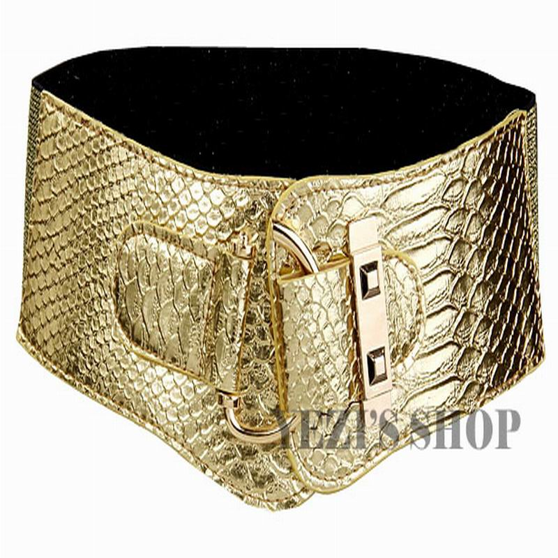 Women Belt Cummerbunds Fashion Design Elastic Waist Belt Buckle Leather Wide Belts Female Strap Waistband For Dress