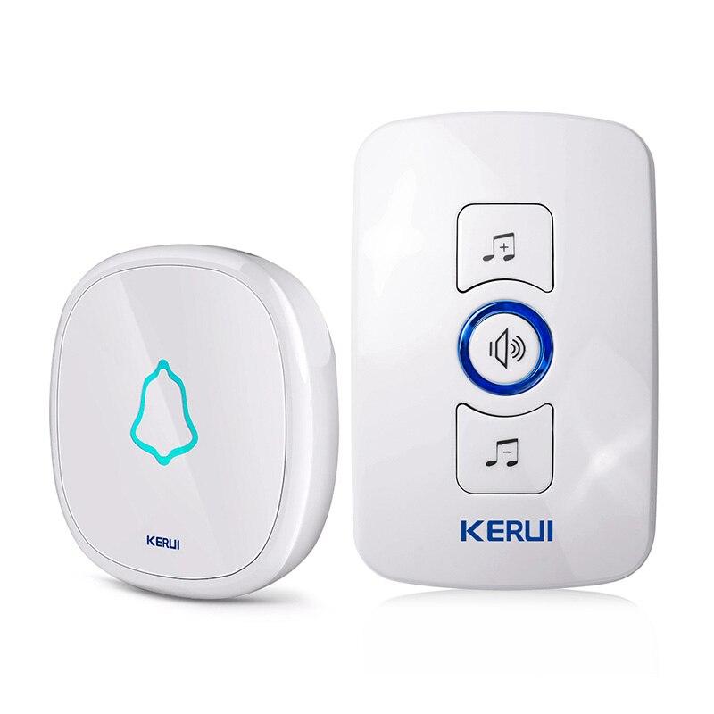 KERUI EU/US/UK Stecker 32 Songs Optional Wasserdichte Touch-Taste Smart Home Willkommen Türklingel Alarm Intelligente Drahtlose türklingel