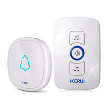 KERUI Home Wireless Doorbell Waterproof Touch Button LED light Operating at 820-feet Range with 32Chimes Welcome Door bell Alarm(China)