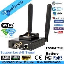 H.265 HEVC H.264 wi-fi SDI видео кодировщик потоковый кодировщик SDI передатчик live широковещательный кодер беспроводной iptvobs/vMix/Wirecast