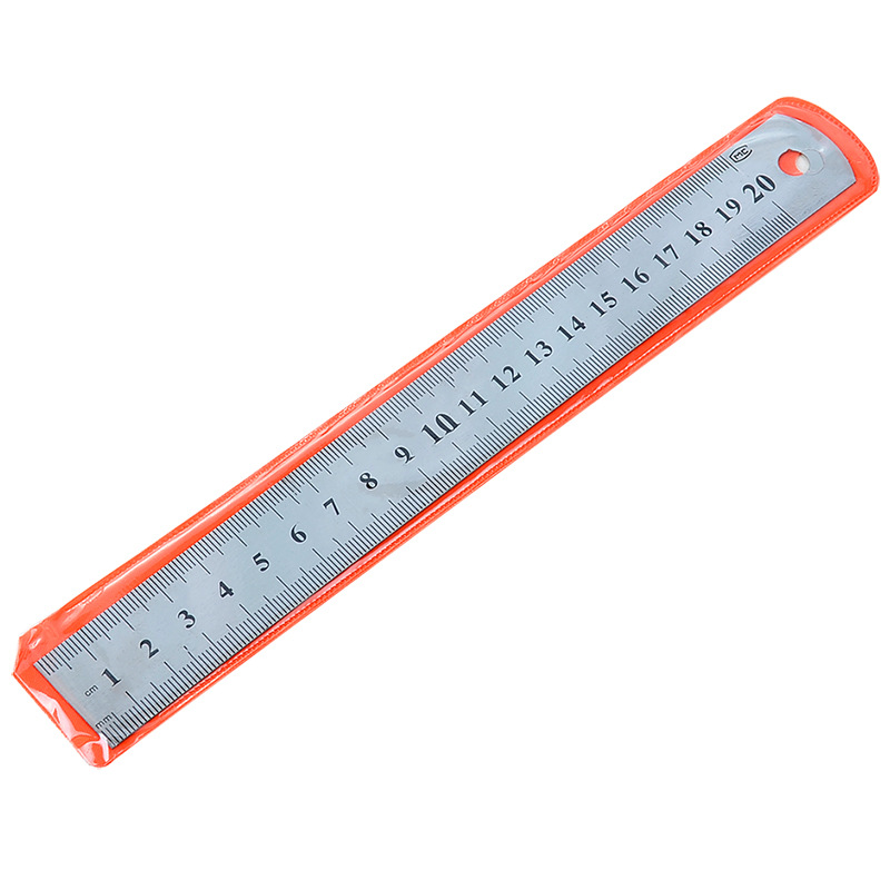 1 Pc 15cm 20cm Stainless Steel Metal Straight Ruler Precision Double Sided Learning Office Stationery Drafting Supplies