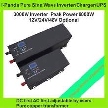 2years warranty CE RoHS FCC pure wave inverter 3000W 3KW solar inverter charger UPS apply with MPPT pump inverter RS232 LCD