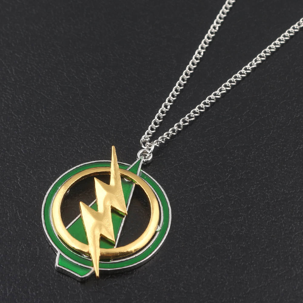 Avengers Logo Pewter Design Metal Pendant Rope Style Necklace