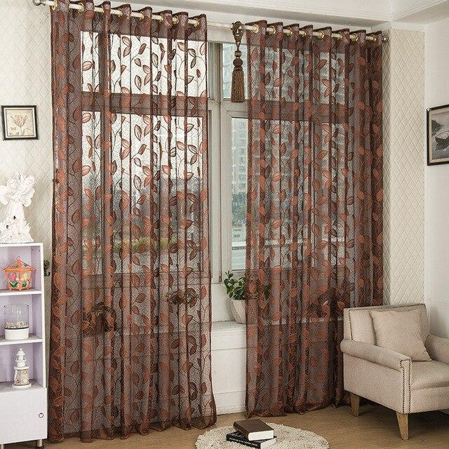 Tulles kettenwirk Chinesischen blätter 3D Fenster Vorhänge stoff ...