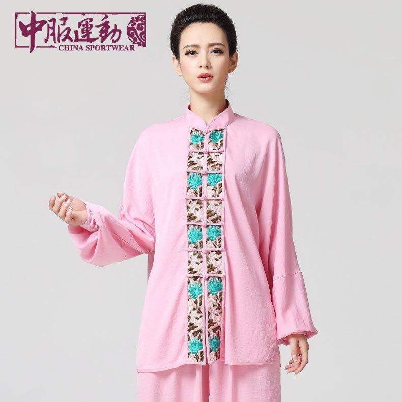 Tai Chi Uniform Taiji Performance Clothing Female Handmade Wushu  Kung Fu Martial Art Suit  Chinese Stly