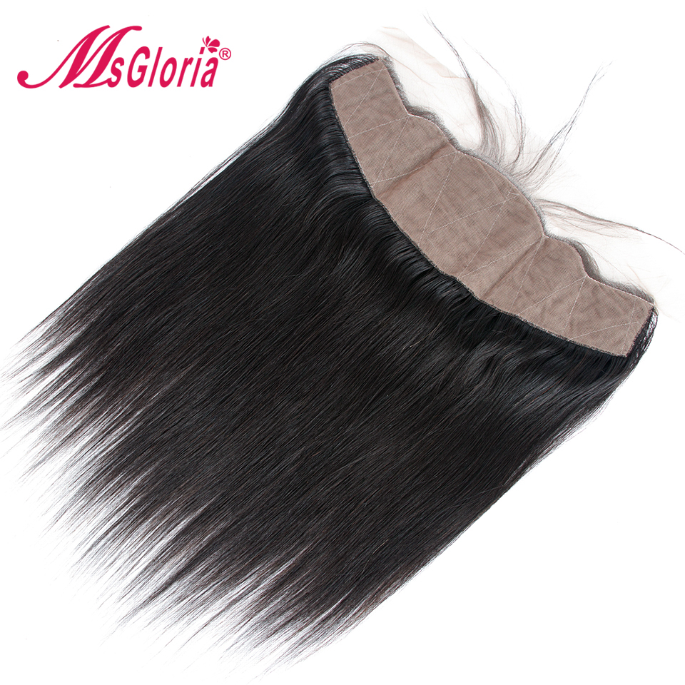 Straight 13x4 Ear To Ear Silk Base Lace Frontal Closure  Brazilian Remy Hair Free Part Pre Plucked Natural Hairline Hidden Knots