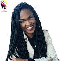 Feibin Faux Locs Braid Hair Crochet Braiding Hair For Black Women 3 Packs 90 Strands Length