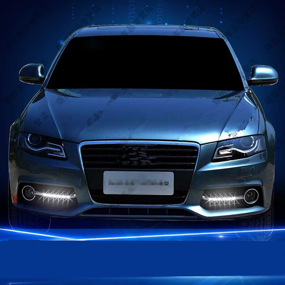 Tcart auto white color DRL Headlight For Audi A4L B6 2009-2012 daytime running light car LED Day Driving Lamp day light for A4L tcart 2x 9005 hb3 9006 hb4 dual color car led headlight white yellow headlamp bulbs fog lamps for plips chip 36w auto led light