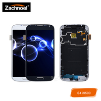 Replacement Screen AMOLED for Samsung Galaxy S4 i9500 i9505 LCD Display with Touch Screen Digitizer with Frame Assembly