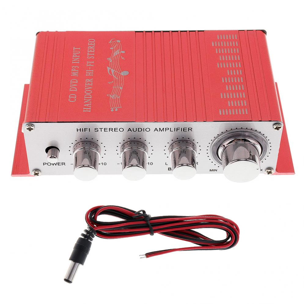 Car Stereo Amplifier12V 2 Channel Car HiFi subwoofer auto audio digital amplifie