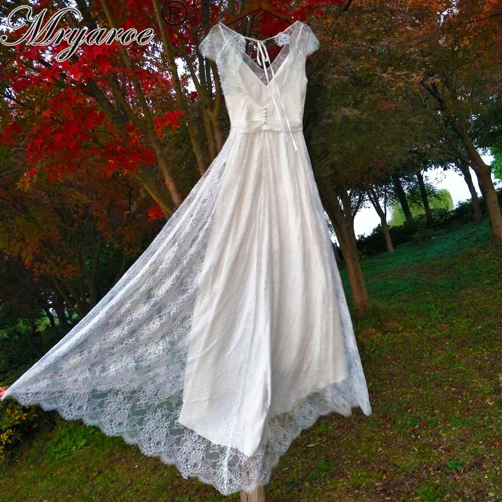 Mryarce Robe De Mariee White Ivory French Lace Wedding