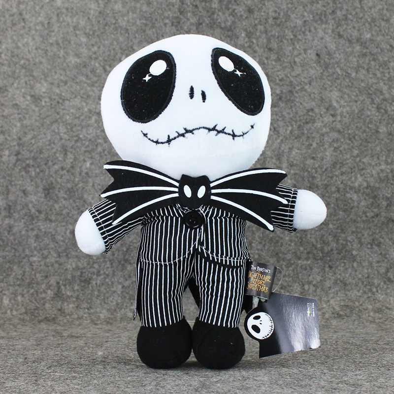 1Pcs 25cm The Nightmare Before Christmas Jack Plush Toy Cute Stand Skull Jake Stuffed Soft Dolls