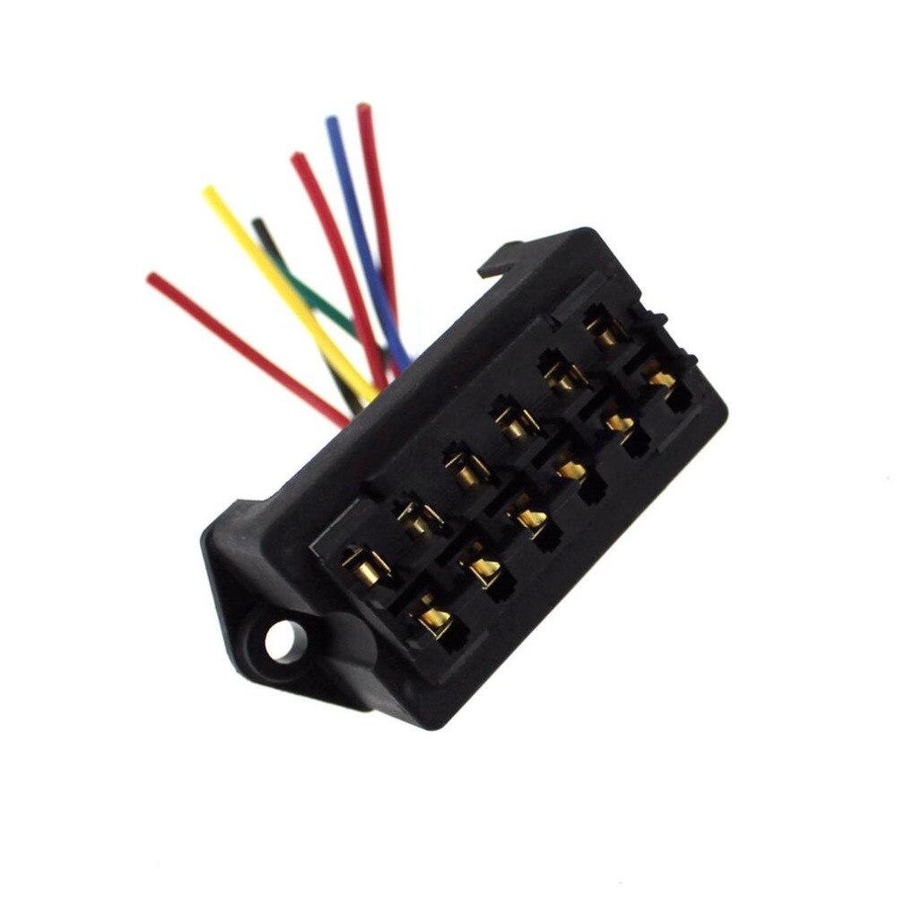 catuo universal f688 car 6 way fuse box fuse holder box 12v 24v 32v car vehicle circuit automotive blade fuse accessory [ 1000 x 1000 Pixel ]