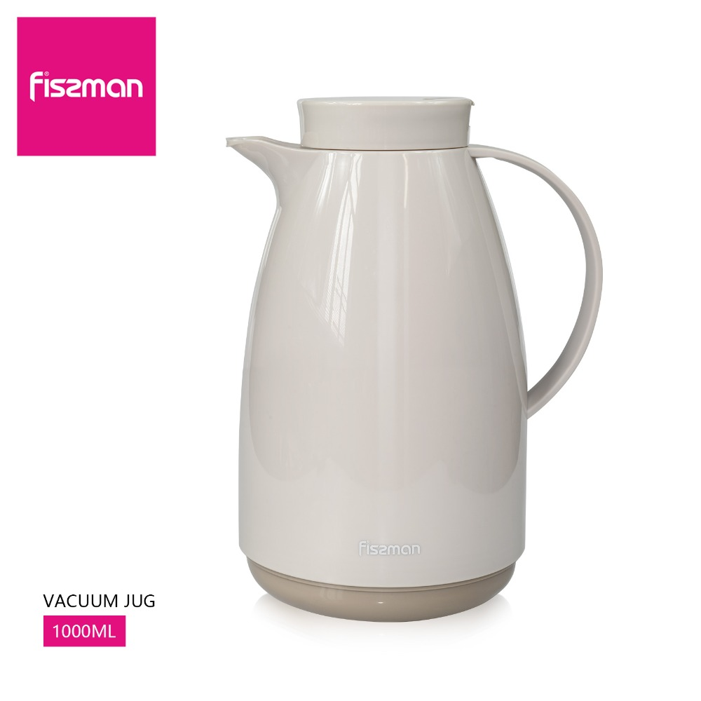Fissman Vacuum Jug 1L(35oz),double wall glass liner vacuum flask, glass thermos bottles 1000ml,coffee thermal bottle,thermal 6H кружка для чая 1000 мл