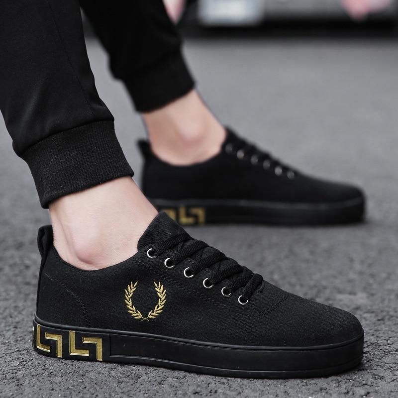 Marca Los Zapatos Casuales De Negro 2019 Hombres La vn80wNm