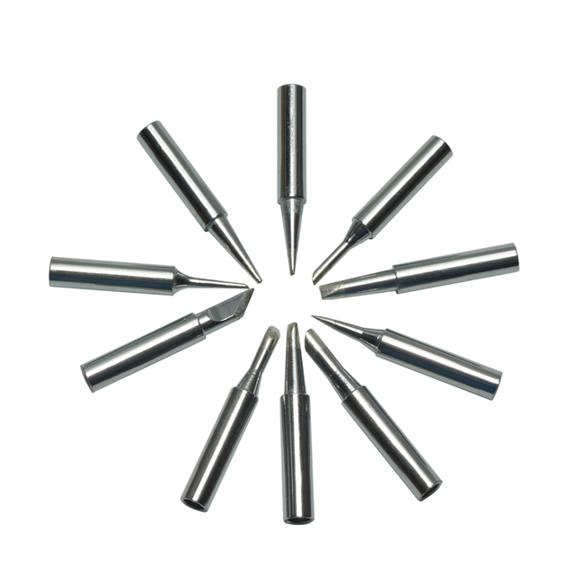 10 Pcs Electric Soldering Iron Tips Solder Tip Lead-free Screwdriver Iron Tip 900M-T for Hakko Rework Station Tool Kit