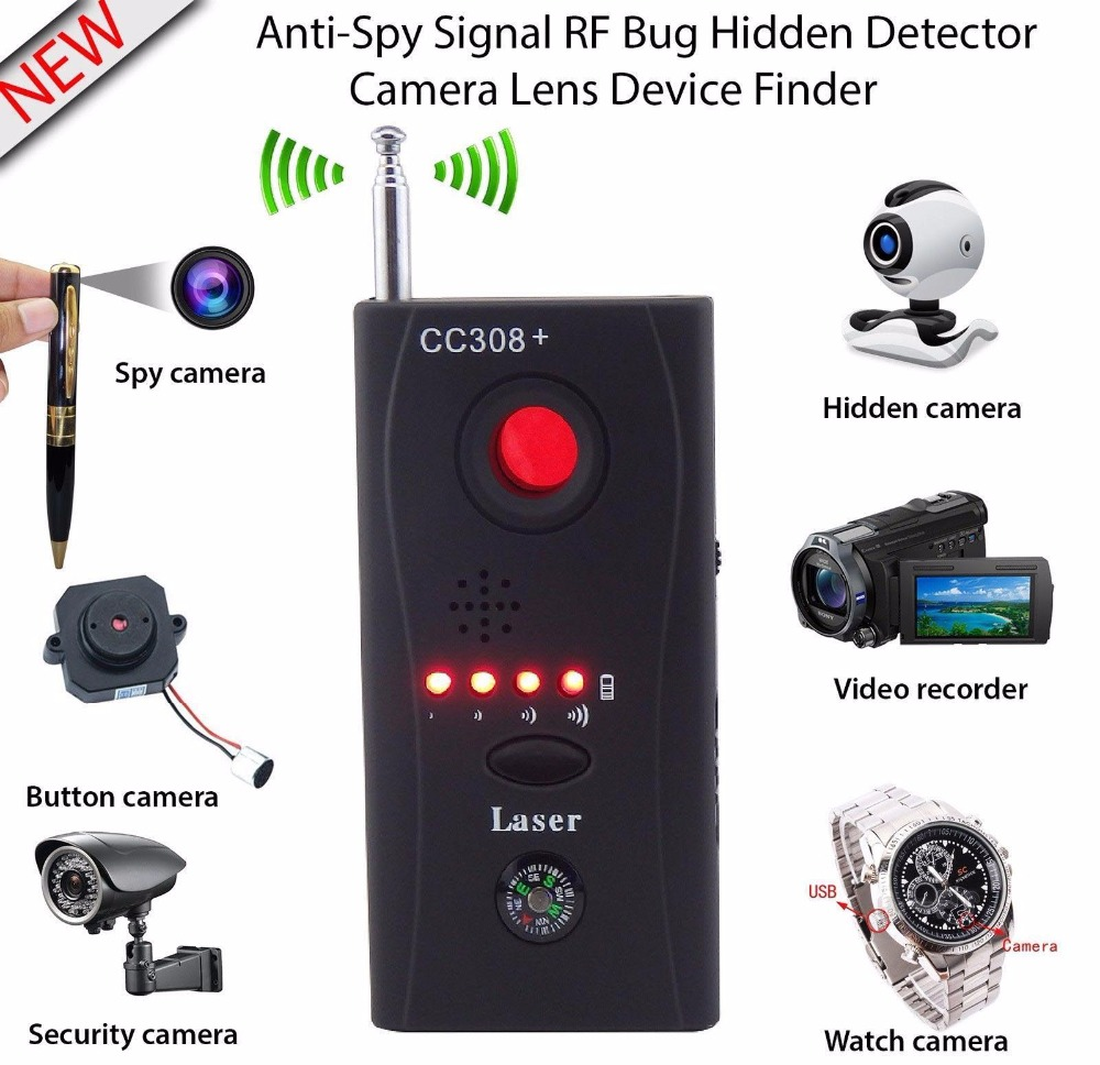 BabyKam Full Range Anti-Spy Bug Detector Wireless Camera GSM Device Finder RF Signal Detector for Personal Privacy Security