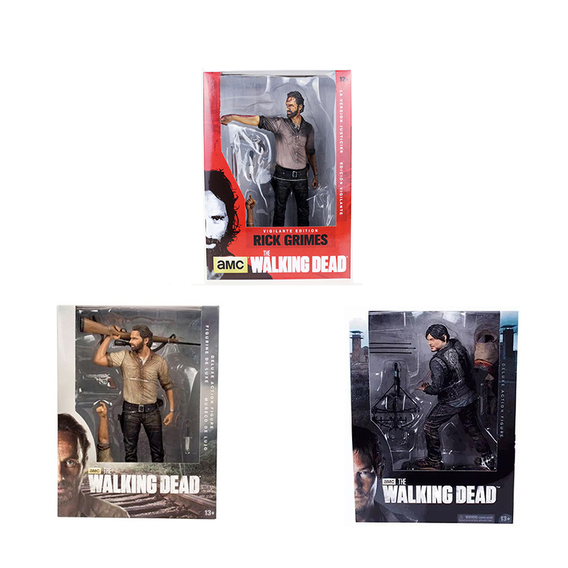 McFarlane Toys The Walking Dead Rick Grimes Daryl Dixon 10 25cm PVC Action Figure Free Shipping худи print bar the walking dead
