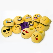 Emoji Slippers Cartoon Plush Slipper Home With The Full Expression  Women Slippers Winter House Shoes