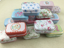 16 pcs/lot Flower Style Vintage Mini Tin Box Storage Boxes Jewelry Wedding Favor Candy Box Accessories Free Shipping