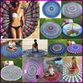 17 Types New Large Shawl Hot Round Beach Towel Fire Peacock Mandala 150cm Beach Swim Towels Bohemia Style Bikini Covers
