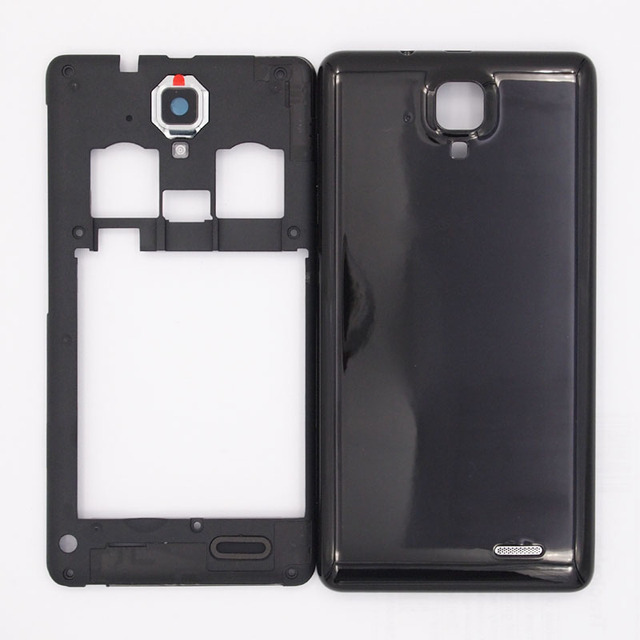 competitive price 44e33 2ad33 US $7.69 9% OFF|BaanSam New Dual Card Middle Frame Battery Door Back Cover  Housing Case For Lenovo A536 A358T With Power Volume Buttons-in Phone Pouch  ...