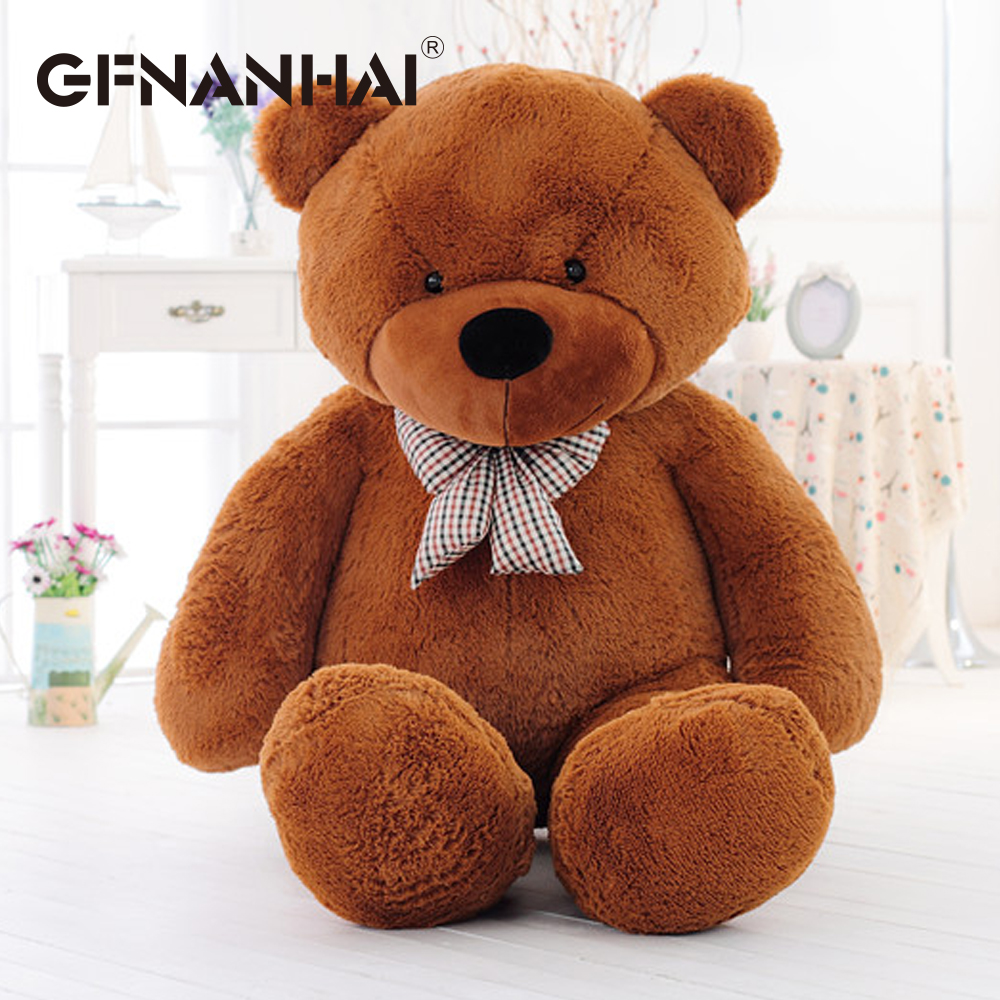 Image 5 - 1pc 80/100cm Cute Teddy bear plush toy stuffed soft bear animal plush pillow for kids girlfriend birthday Valentines giftStuffed & Plush Animals   -