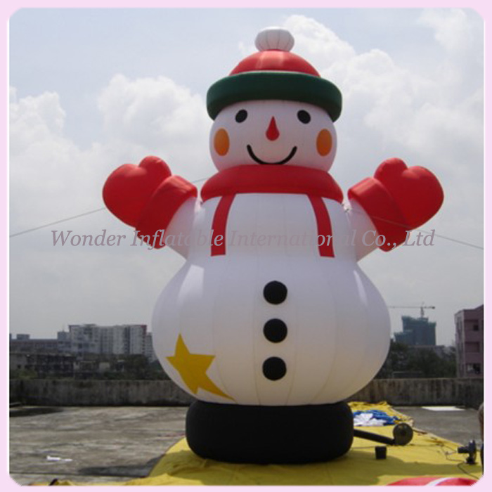 2015 popular large outdoor snowman christmas inflatable decoration