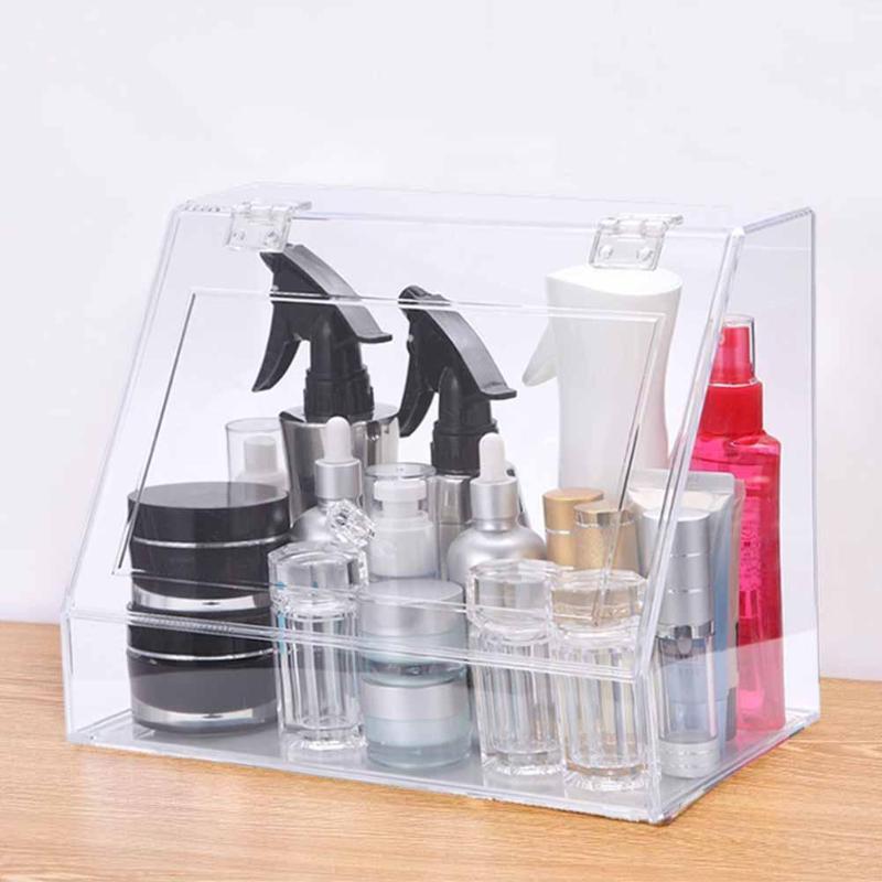 Transparent Desktop Makeup Brush Storage Box Home Lipstick Jewelry Cream Holder Organizer Home Office Container