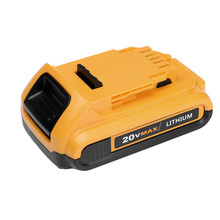 20V 2000mAh Li-ion Rechargeable Power Tools Battery Replace with lamp for Dewalt DCB200 DCB201 DCB203 DCB205