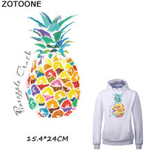 ZOTOONE Colorful Pineapple Iron Patches for Clothing T-shirt Dresses DIY Accessory Decoration A-level Washable Heat Transfer C