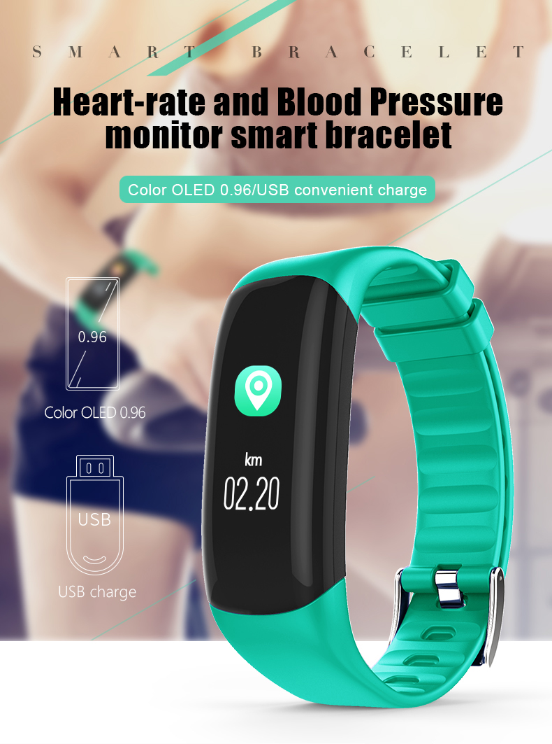 P7 Smart Wristband Bluetooth 4.0 Band Heart Rate Monitor Sport IP67 Waterproof OLED Smartband Bracelet For Android IOS Phone (1)