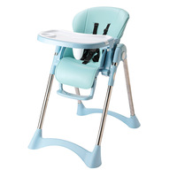 Children's Dining Chair Multi function Adjustable Folding Chair Infant Eating Seat Portable Cute Child Five point Safety Seats