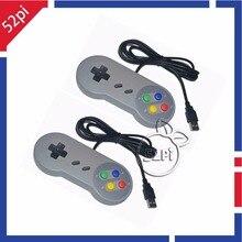 2PCS/Lot Super Nintendo SNES USB Controller Game Pad Joypad Joystick for PC Raspberry Pi 3 Model B Retropie