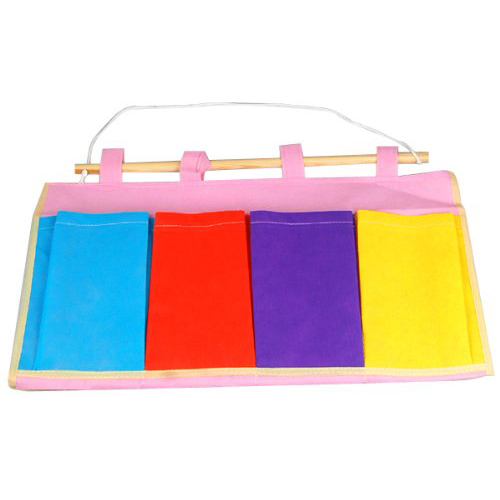Colorful Wall Door Cloth Hanging Storage Bags Case Pocket Home Organization
