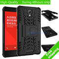 For xiaomi redmi note 2 Note2 Plastic Phone Case Heavy Duty TPU+PC Defender Armor Dazzle Shockproof with Kick Stand Cover