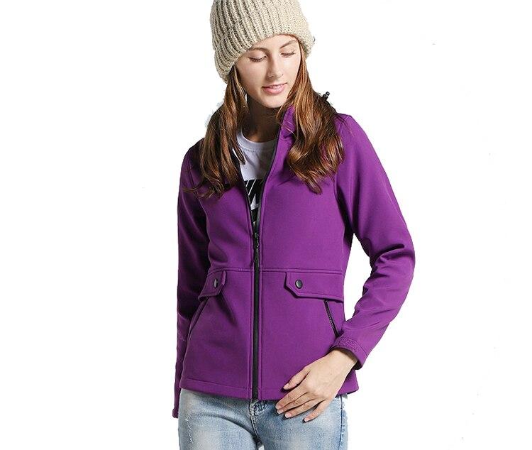 Feminino primavera outono softshell velo jaqueta esportes