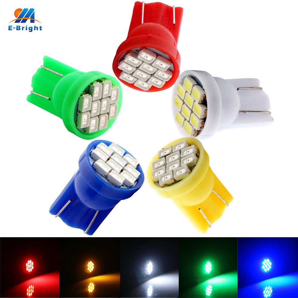 300 PCS T10 194 168 1206 10 SMD LED Car Lights 12V DC Interior Lighting Auto
