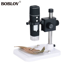 Big discount BOBLOV 300X WiFi Digital USB Microscope Handheld Electronic Magnifier With 8pcs LED Durable Portable For IOS Android Device