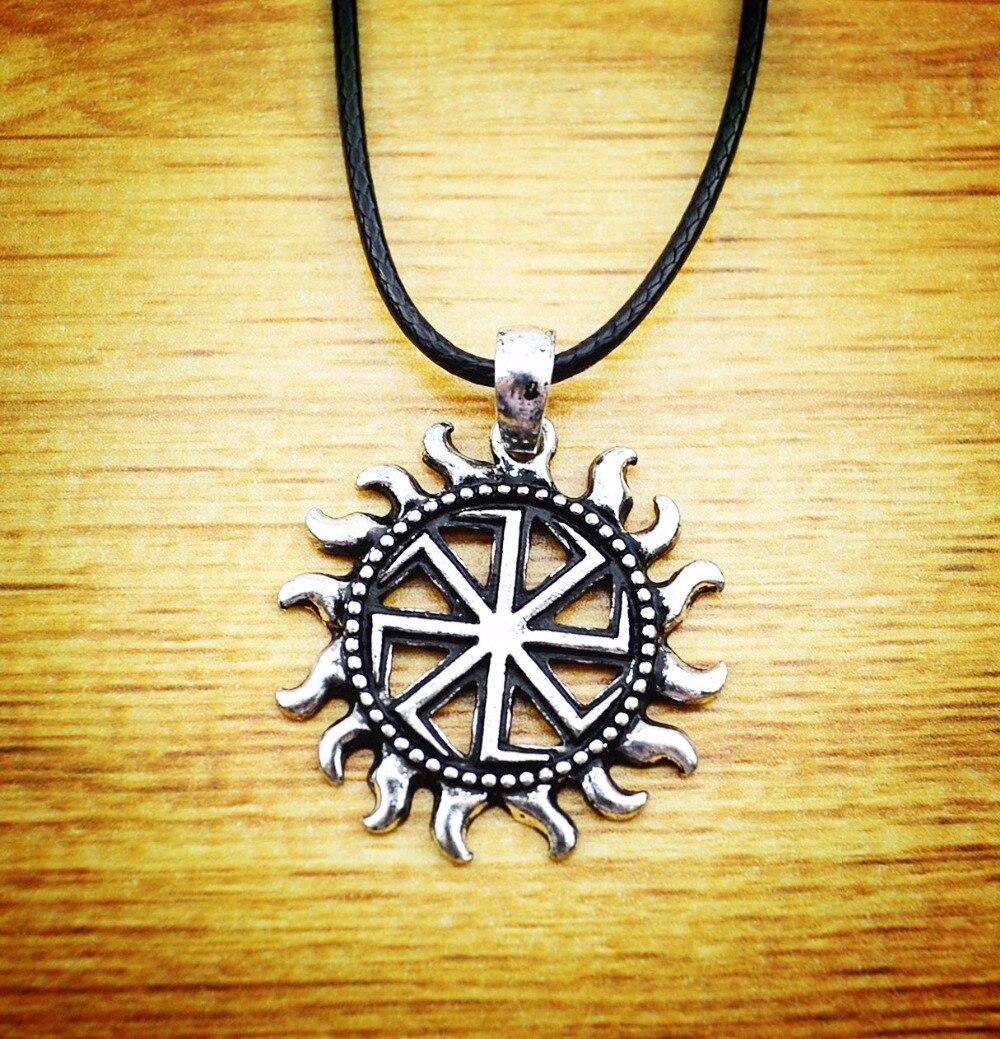 new 2016 Silve Slavic Kolovrat Pendants Slavic Amulet Pendants - მოდის სამკაულები - ფოტო 2