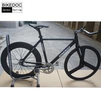 BIKEDOC 2017 Carbon Frames 700c Full Carbon Fixed Gear Frame Light Weight Toray 700 Carbon Bike Frame