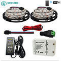 5 M 10 M DC 12 V 5050 RGB Llevó la Tira IP20 IP65 impermeable Led + WIFI Controller + power Color Cambiante por Android IOS