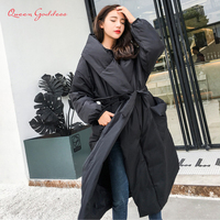 Winter Special Amazing style loose long down women jacket solid color and plus size parkas warm outwear new listing young lady