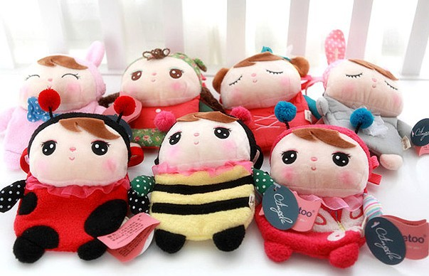 candice guo! Metoo Angela girl plush toy doll small crossbody bag coin purse deer rabbit girl styles birthday gift 1pc